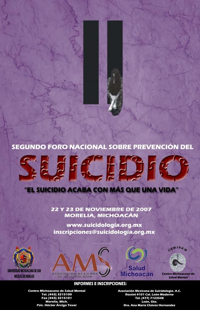 II Foro Nacional Sobre la Prevención del Suicidio